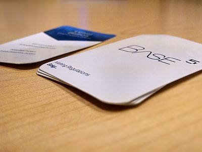 Base5 Business Cards base5 tech business card card print branding start up