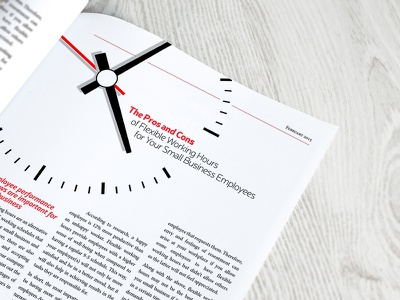 Business Article Layout layout indesign magazine copy typesetting business newsletter print