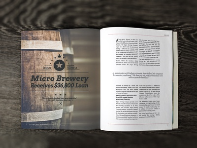 Brewery Article Spread type print magazine layout