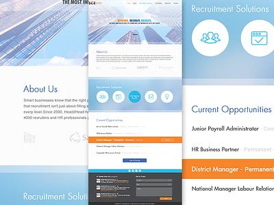 H2H Concept 1 ui design webdesign business recruitment