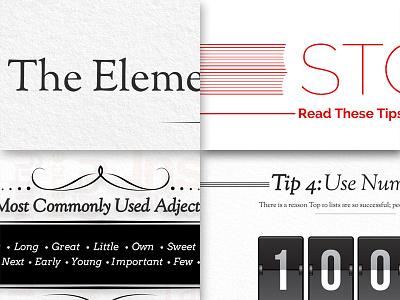 Infographic Snapshots type typography typesetting illustrator vector infographic