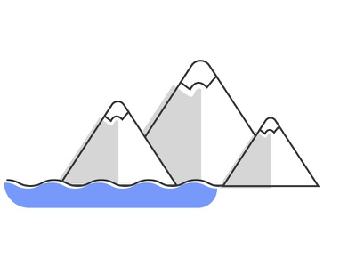 Hills and mountains illustration