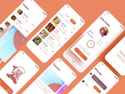 delivery app designer kit figma uidesign ui  ux ios app appdesign