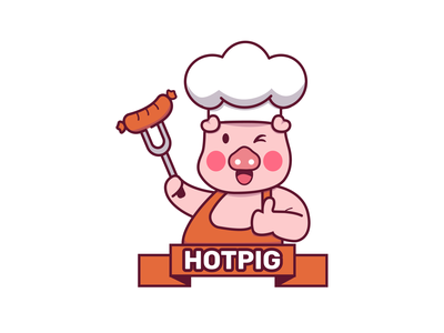 hotpig logo illustrationdesign skull illustration baglogo mascotlogo illusrtaion logodesign logo food appdesign design