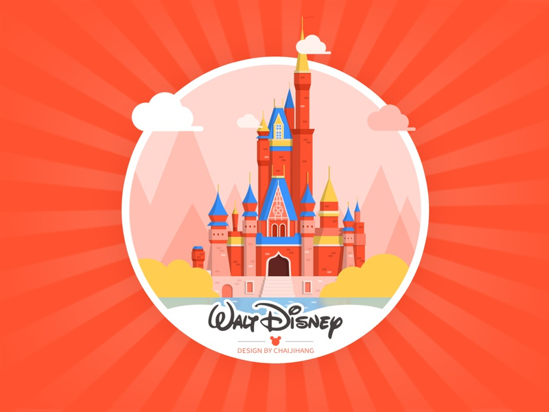 Disney castle illustration