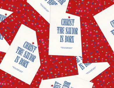 Risograph Christmas Card