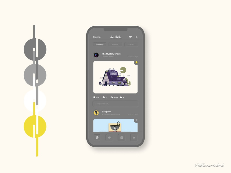 Dribbble Gray app uxdesign app design dibbble design ui ux