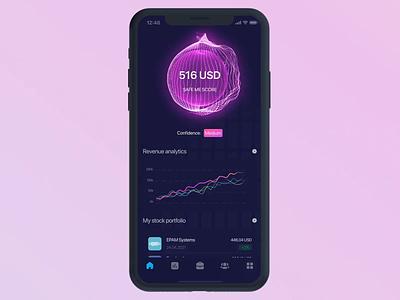 Stock Portfolio aftereffects 3d blender figma app design app design ui ux