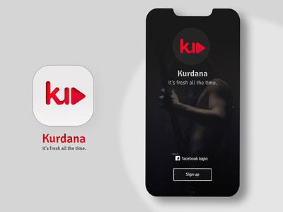 Kurdana -  Music app login app headui login page music app