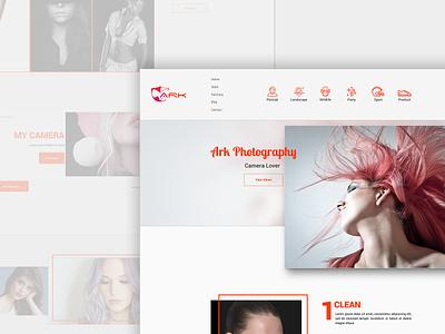 Photography homepage headui webdesign homepage photography