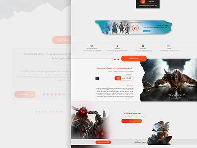 Gamer website persian headui web design vgamers game homepage design gamers