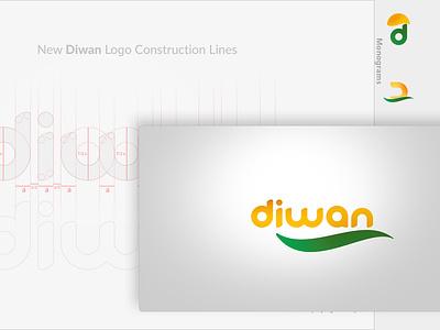 Diwan Logo design logo concept monograma logo construction diwan logo headui logo design