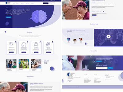 Autism Support Website Design web illustrator illustration animation vector typography design app ux ui