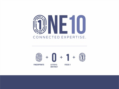 One Ten Branding minimal web icon logo logotype ux ui