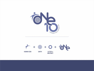 One 10 Branding logo web minimal icon ui ux app design design branding