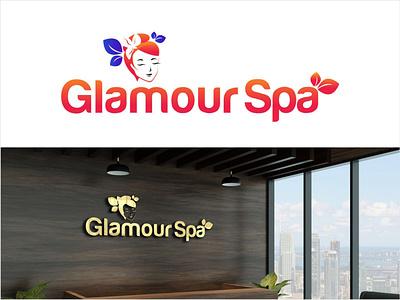 Glamour spa illustration app typography branding logotype logo logodesign