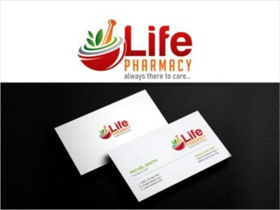 LIFE Pharmacy Logo app design ux illustration typography branding logo