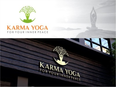 Karma Yoga Logo website flat animation vector illustration logo typography design branding app design