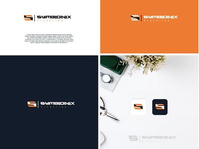 symbionix Recruiting Logo minimal icon animation app vector illustration logo typography design branding ux app design