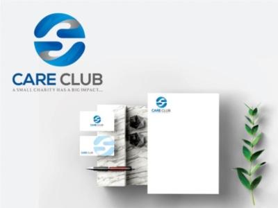 Care Club logo logotype minimal icon animation app illustration logo typography design branding app design