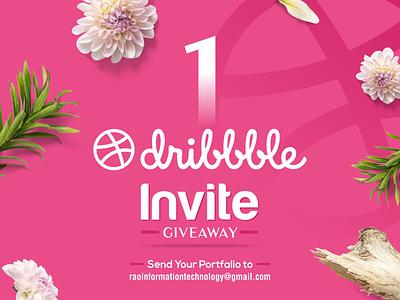 One Dribbble  Invite logotype minimal icon animation vector ui illustration design typography dribbble best shot webdesign app design website design dribbble invite