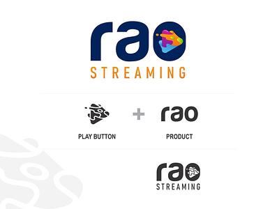 Rao Streaming app minimal icon animation vector logo ux illustration design branding typography app design