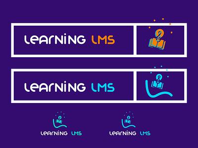 Logo Concept For learning lms letter concept lms learning icon app animation vector ui ux illustration branding typography app design logo