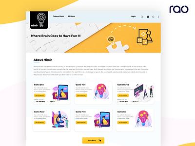Quiz Landing Page webdevelopment webdeisgn landingpage app animation vector ui ux logo illustration design branding typography app design