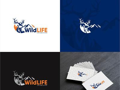 wild life Logo Deign icon app animation ui vector ux logo illustration branding typography app design