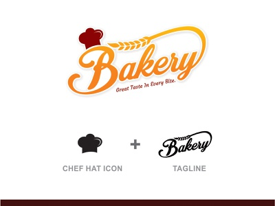 bakery logo design ui ux animation vector logo design illustration branding typography app design