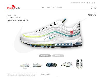 footprints store concept website concept webdesign logotype minimal icon animation design typography ux logo illustration branding app design