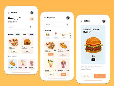Food app  Concept delivery app app food app application icon animation ui vector logo design illustration branding typography app design