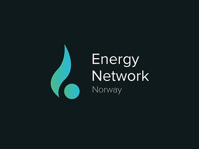 Energy Network Norway renewables colors energy design logo