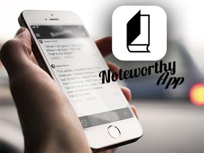 Noteworthy app app ios7 quotes