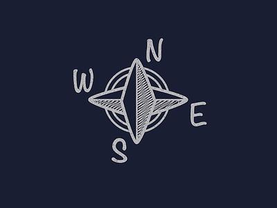Marine Compass marine compass logo vintage