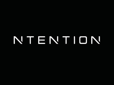 Ntention flat design identity clean branding logo