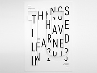 Things I Have Learned in 2013