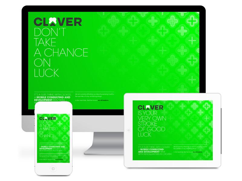 Clover green identity design digital luck clean fresh croatia zagreb web behance brand