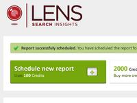 Lens logo in action