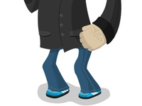 Character with Adidas trainers