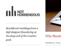 Not Horrendous (dot com) - final