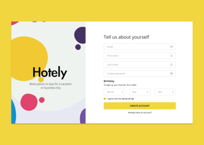 🏢 Booking service signup form