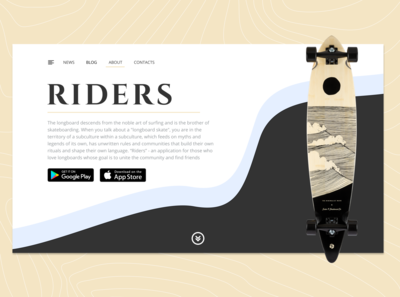🛹 Riders Landing Page