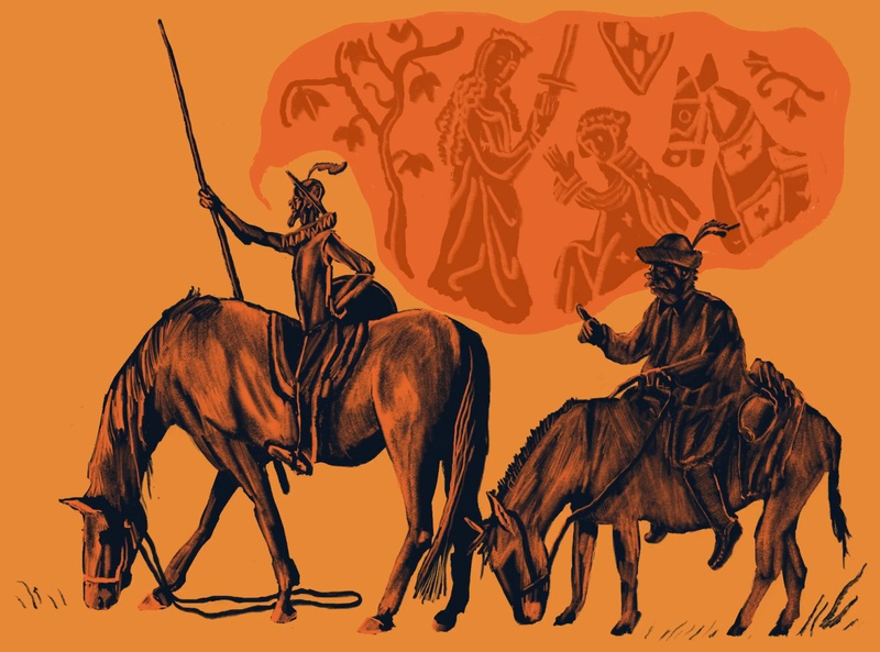 Don Quixote books literature illustration quixote don quixote