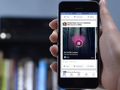 Share Music on Facebook music facebook ui design rdio spotify social