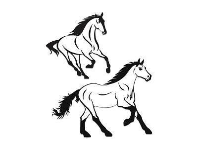 Horse graphic design logo design