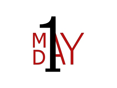 1 MAY DAY graphic design logo design