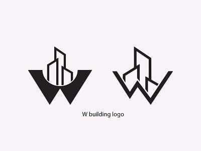 W building logo graphic design logo design