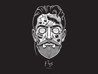 Chehov chehov draw tattoo portrait writers adobe tshirtdesign design graphic art illustration ols-dsgn