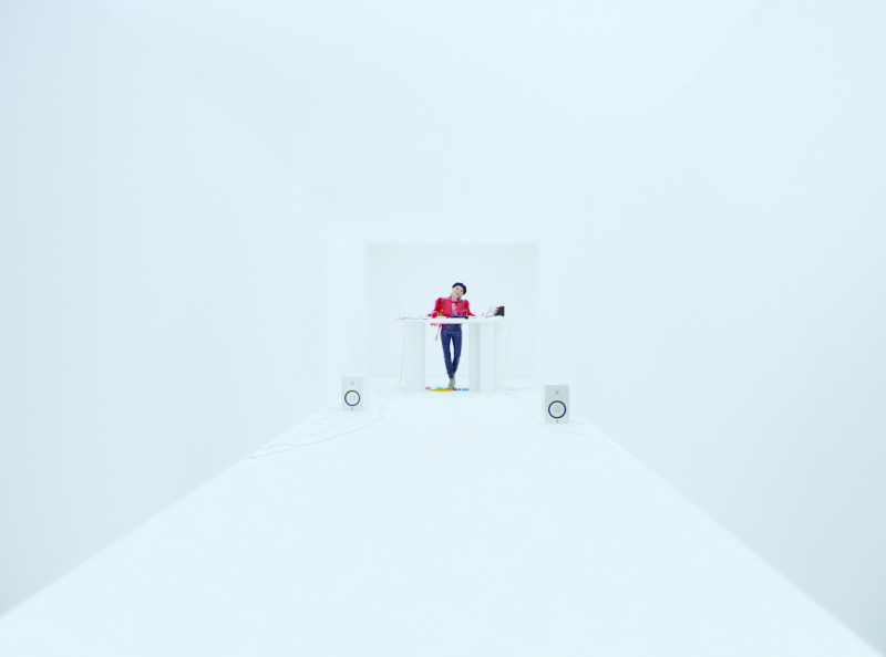 """Hallway set for Gryffin's """"OMG"""" music video ft. Carly Rae Jepsen visual effects whitespace music matte painting vfx architechture video set design physical product"""